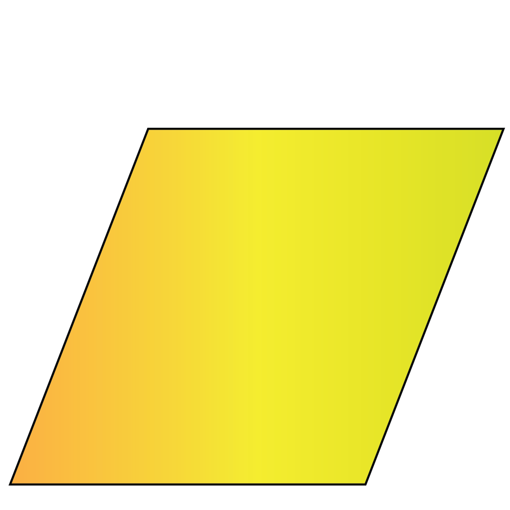 A rhombus is a 2D shape