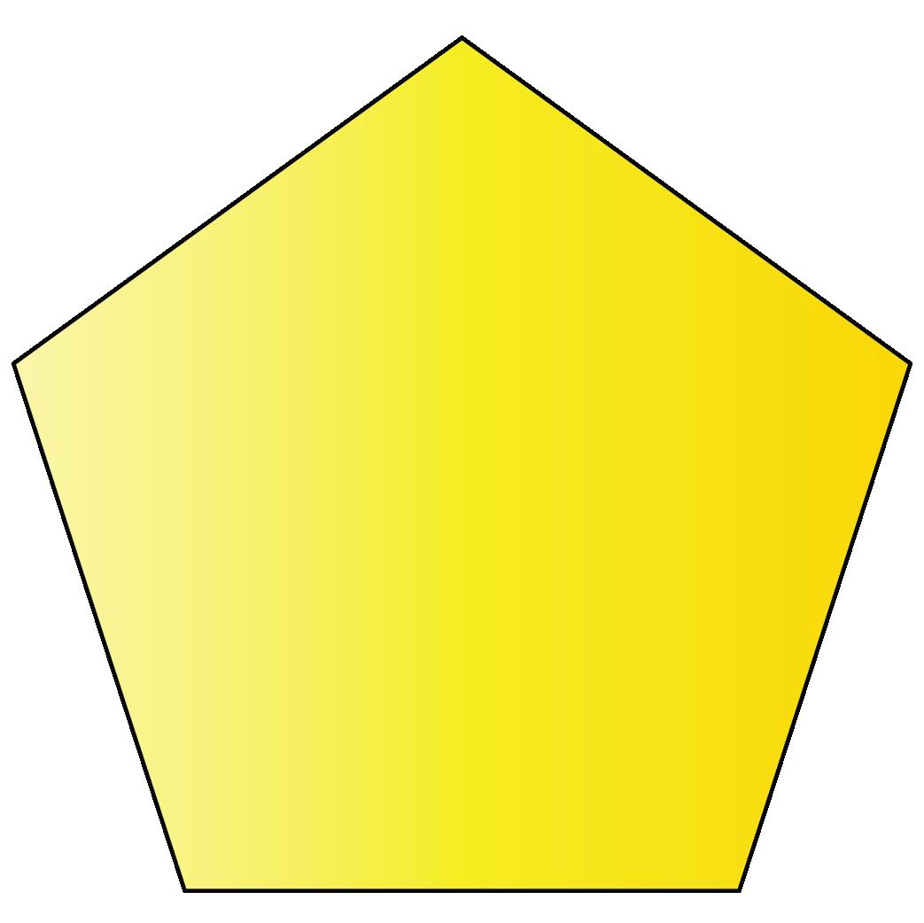 A pentagon is a 2D shape