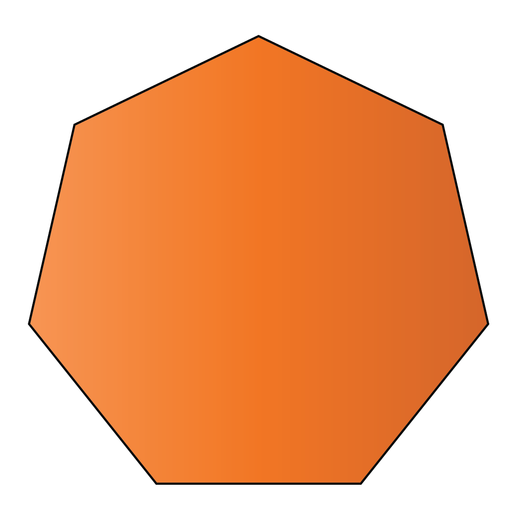 A septagon 7 sided polygon