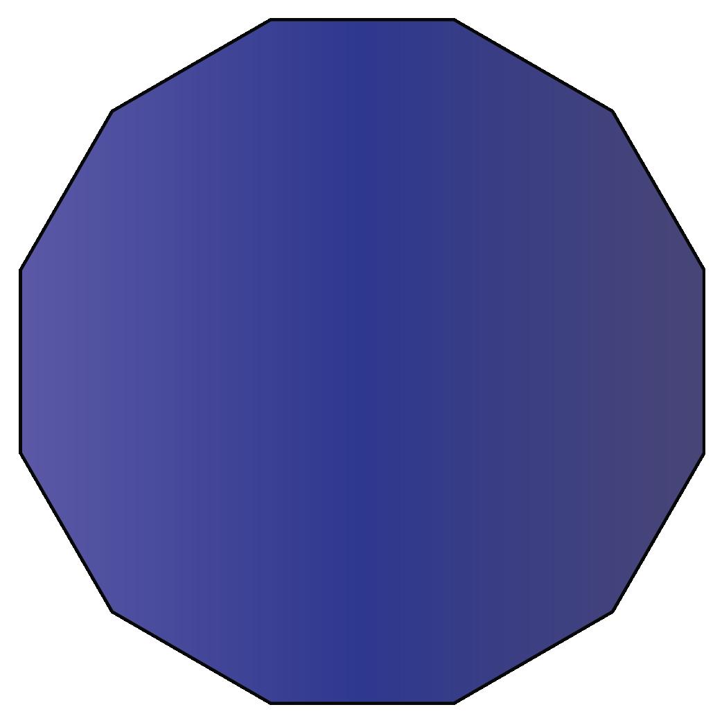 A dodecagon twelve sided polygon