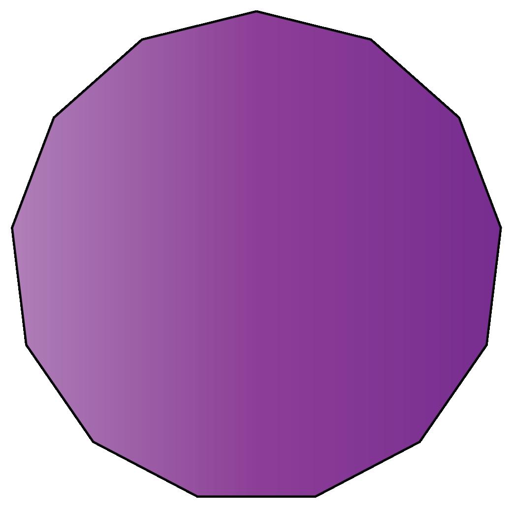13 sided polygon