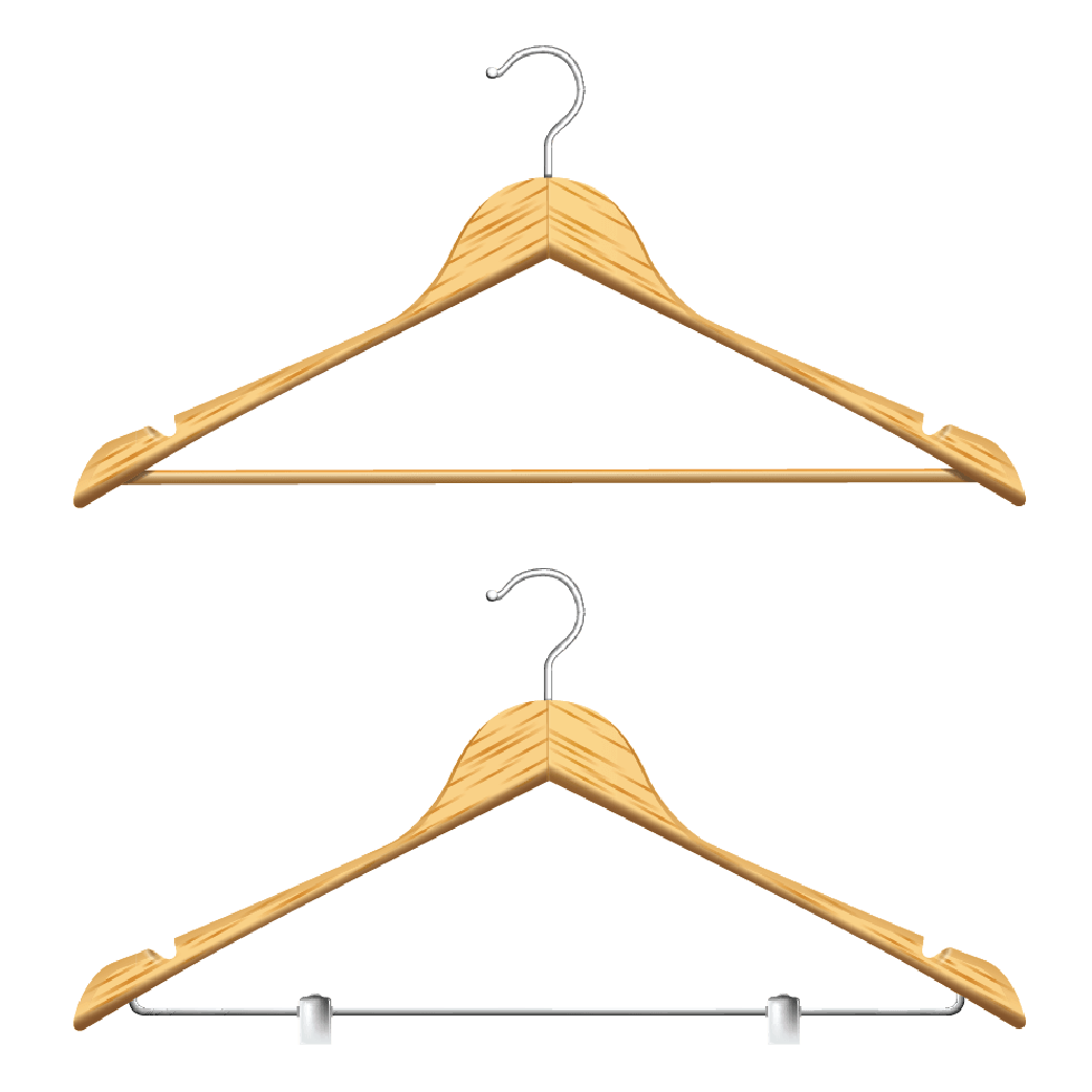 Triangle shaped hanger