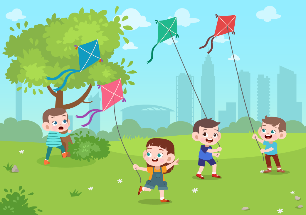 Is kite a quadrilateral-children flying kites