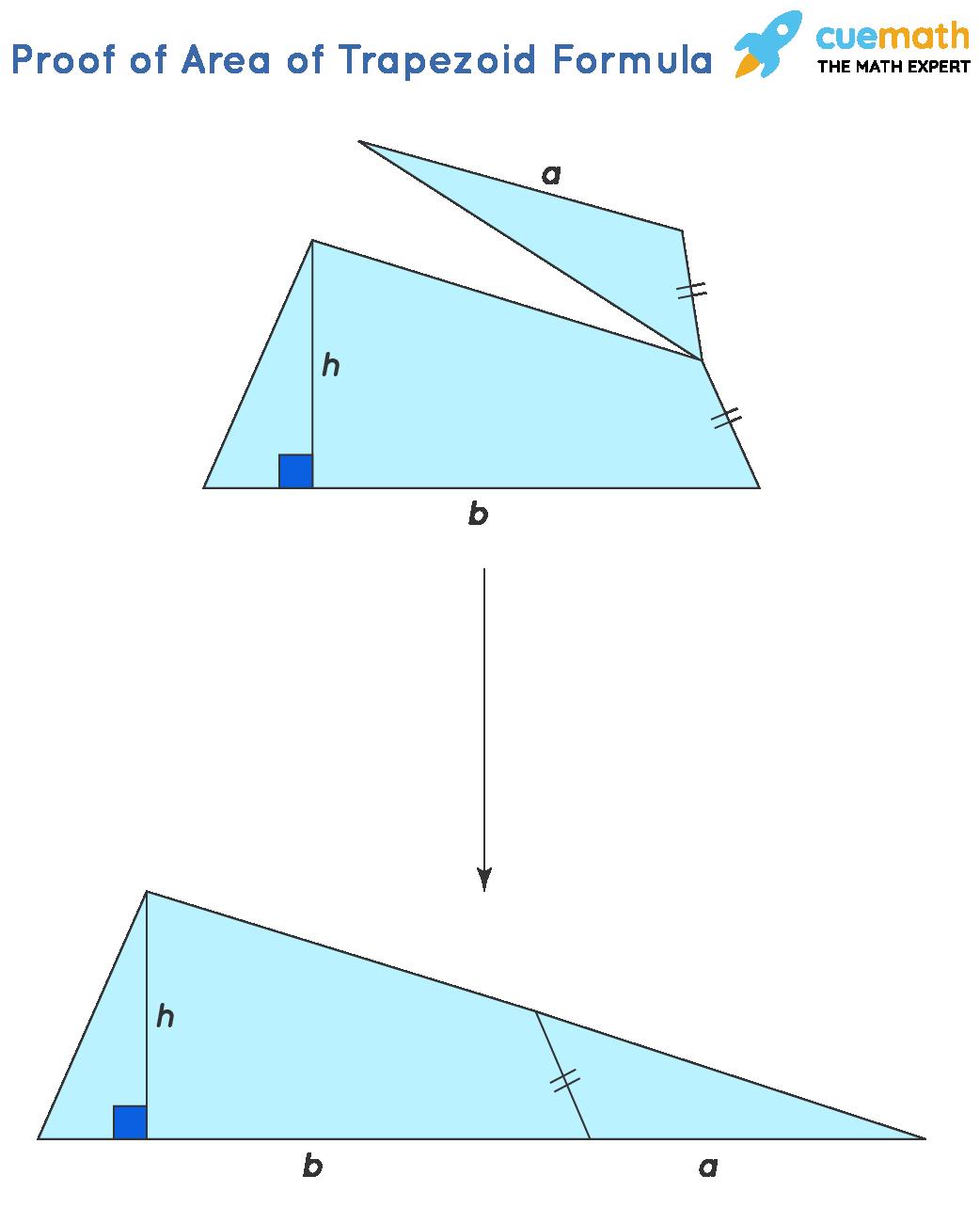 Proof of area of trapezoid formula