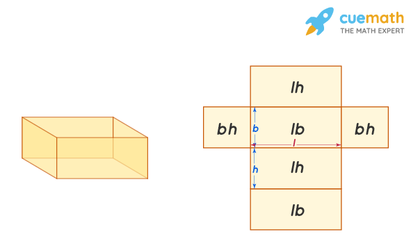 the surface area of a right rectangular prism