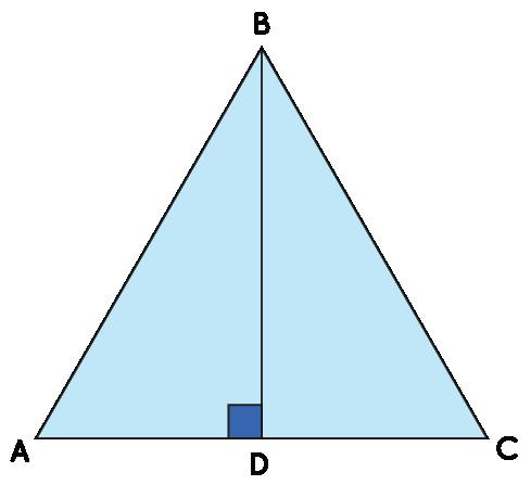 Δ ABC with BD as both median and altitude.