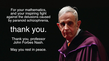 John Forbes Nash one of the most influential mathematicians of the 20th century