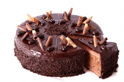 cake is divided into 8 equal slices