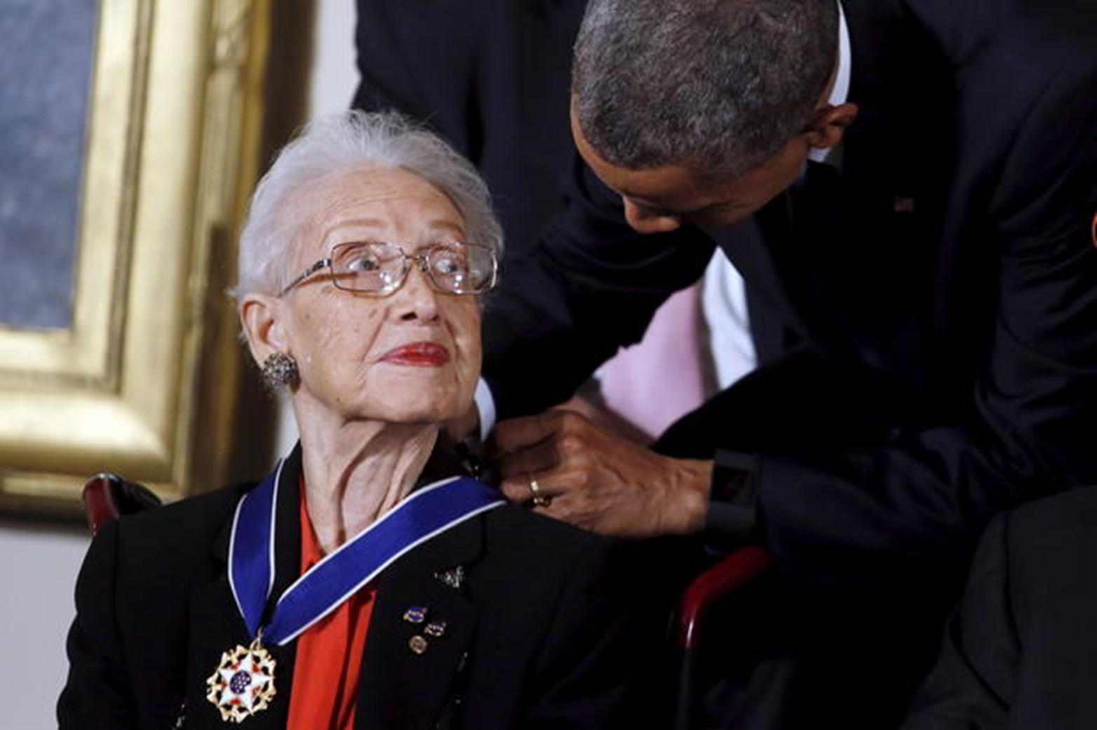 Katherine Johnson also received a silver Snoopy award