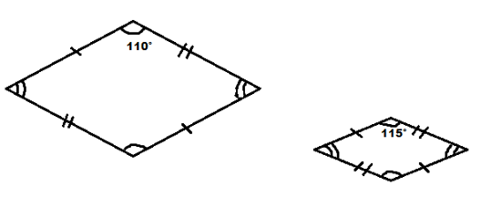 In Rhombus all the sides are equal