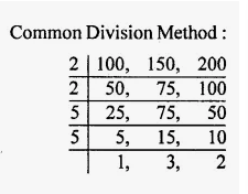 LCM by using the Division Methods