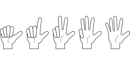 using fingers to count