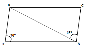 ABCD is a parallelogram find angle CDB