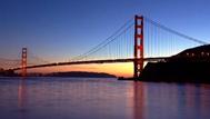 Golden Gate Bridge in San Francisco in California