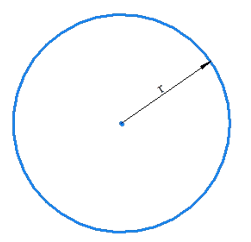 tangent dropped to a circle