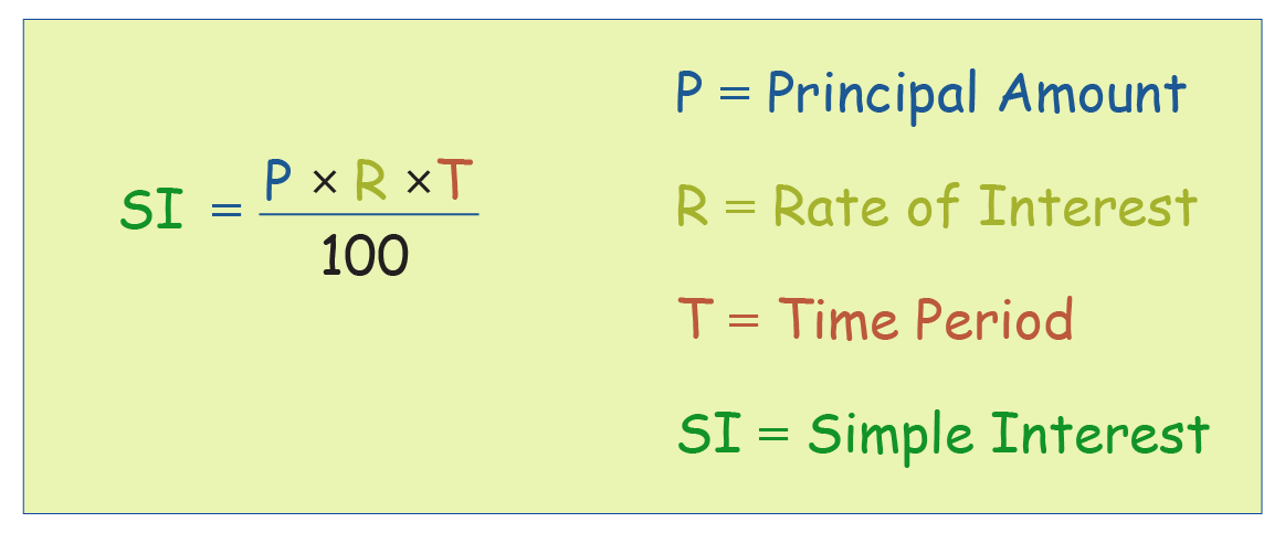 formula for simple interest