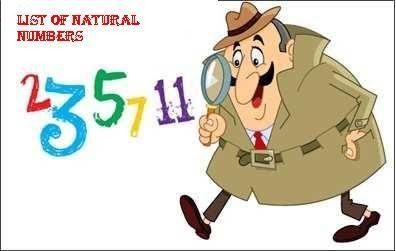 List of Natural Numbers