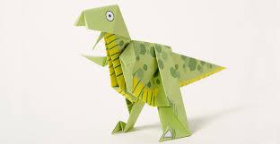 Origami of a dinosaur