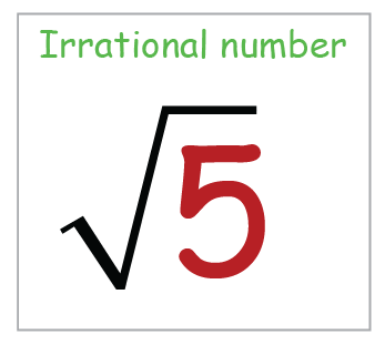 example of irrational numbers