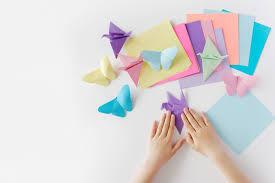 Origami of butterflies