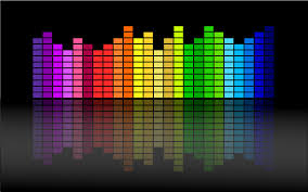 colorful bar graph for music
