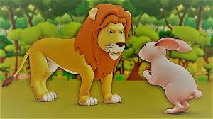 lion ad the rabbit