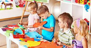 kids doing craftwork