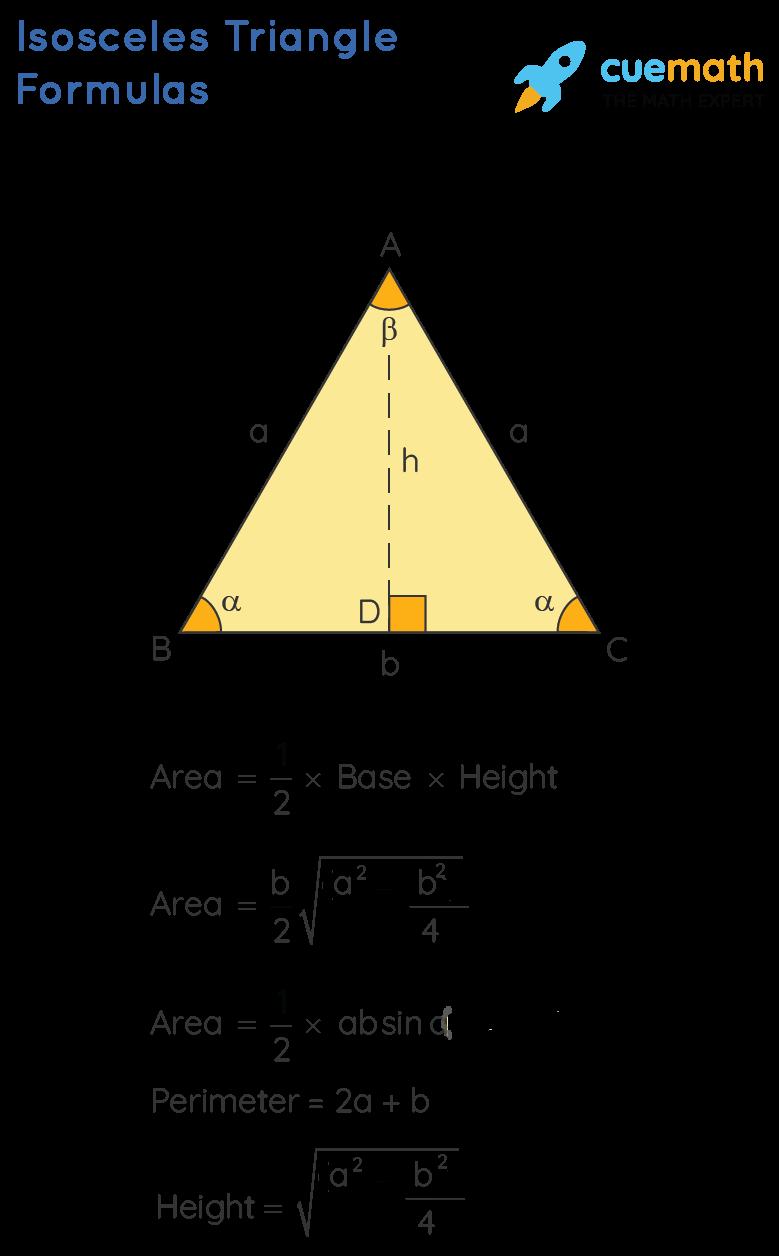 isosceles triangle formulas