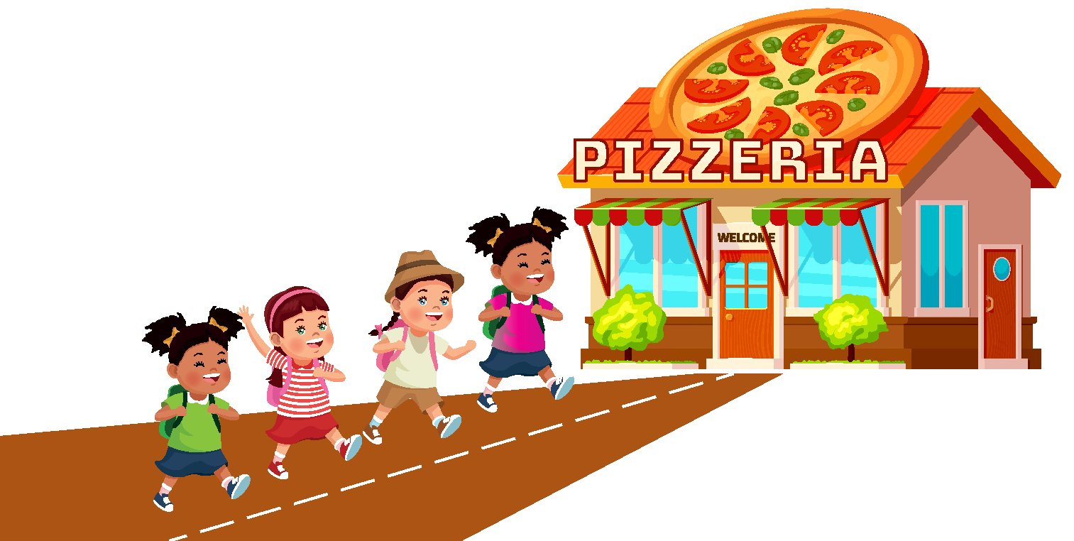 Solved Example: Pizza Shop showing 4 girls: 5/8 as a decimal