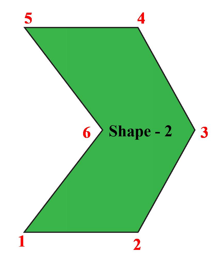 Irregular Hexagonal Shape & its resemblance with Hexagonal Shaped Sofa