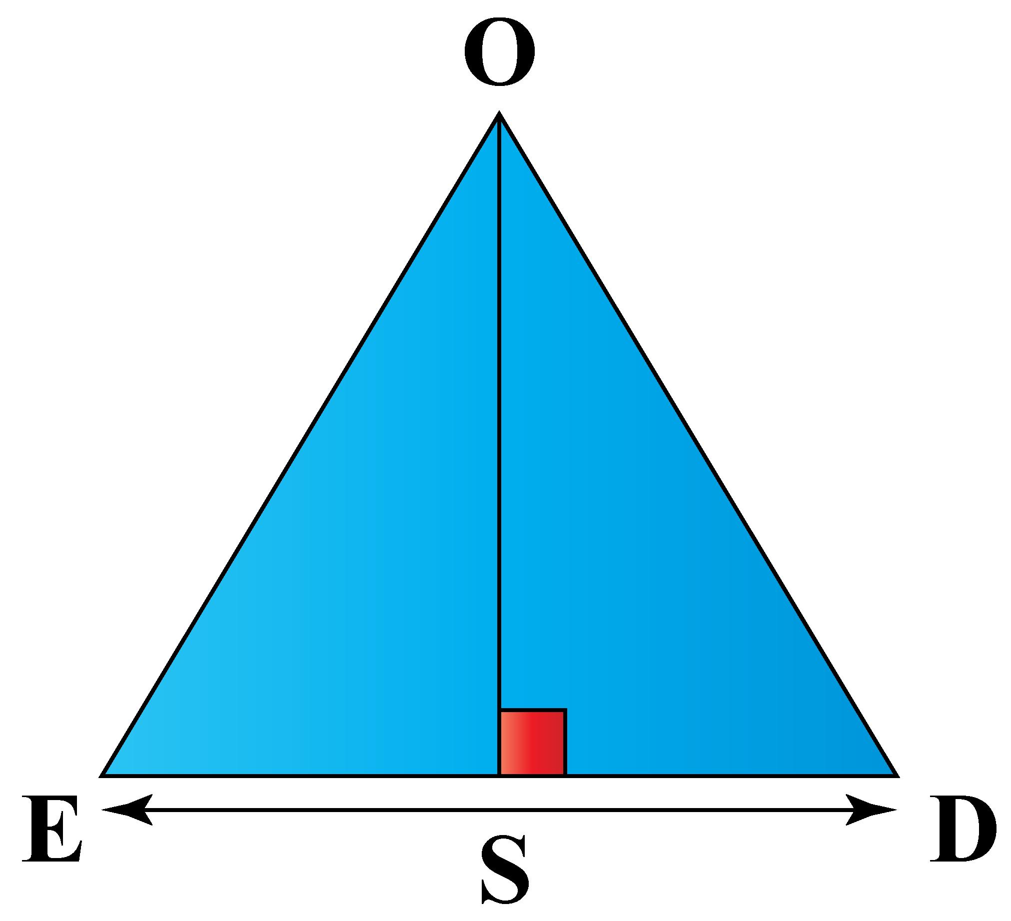 Area of a regular polygon: Regular polygon broken into 6 parts