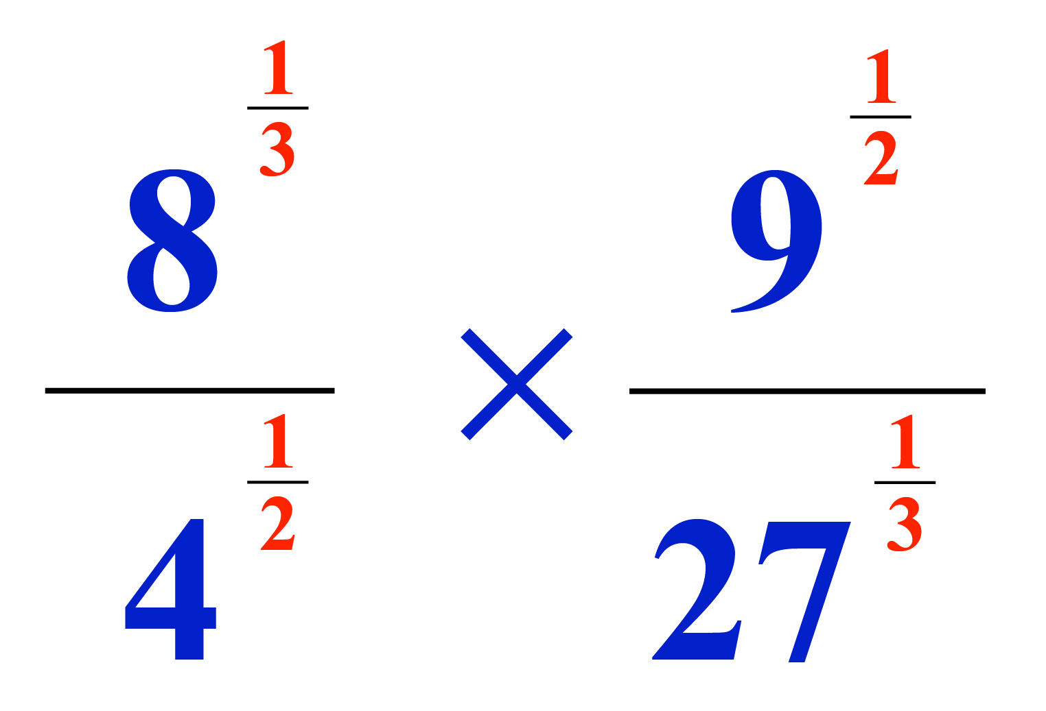Solved Example: Fractional exponents