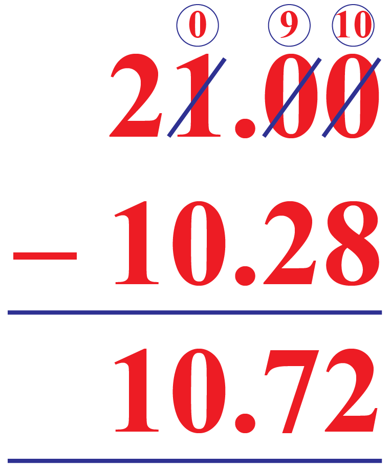 Decimal Subtraction: Example