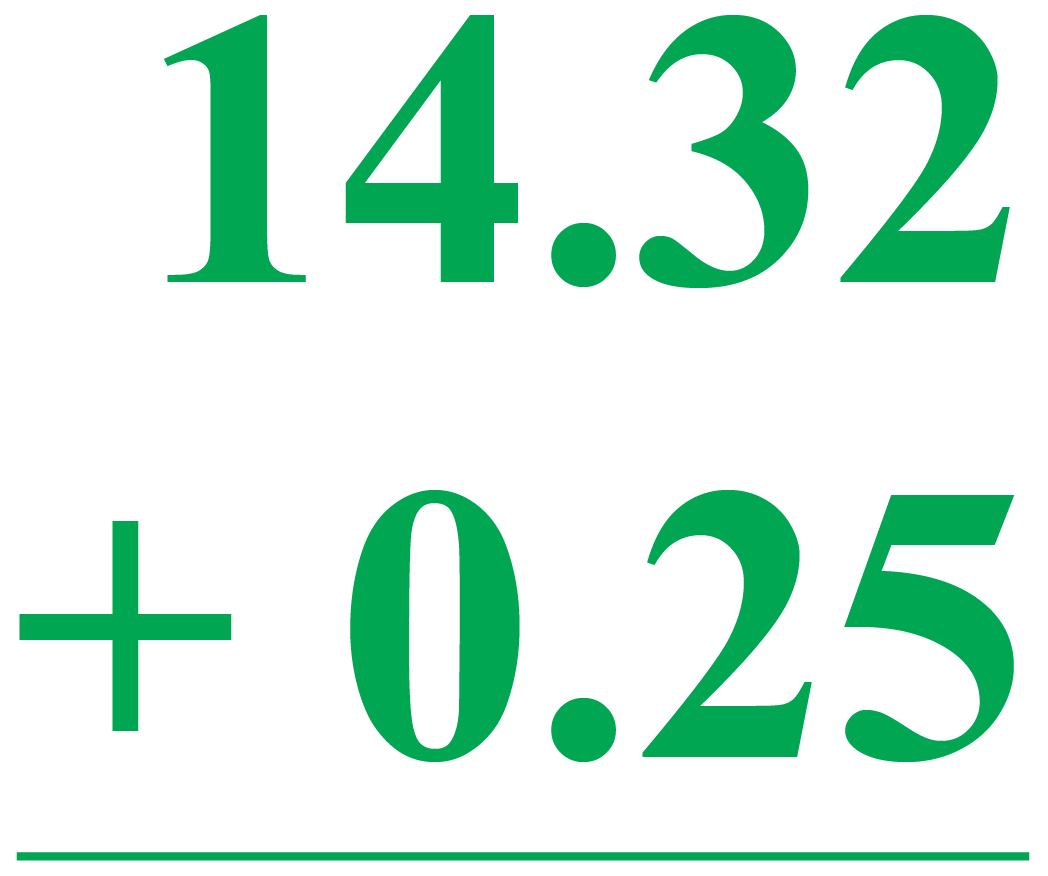 Adding Decimal Number to a Fraction: Example