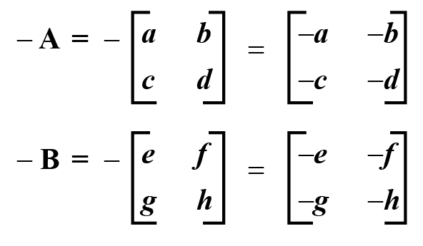 Negative of a Matrix