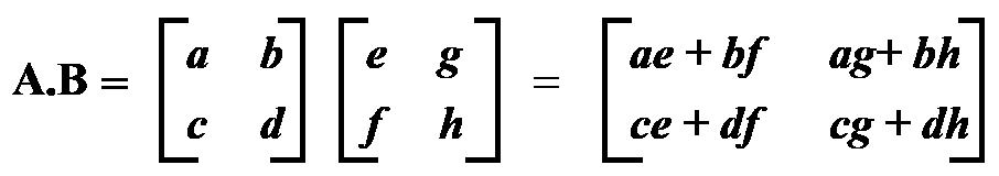Multiplying a matrix by a matrix