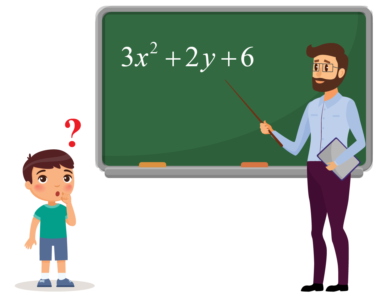 Polynomial Expressions: Teacher teaching