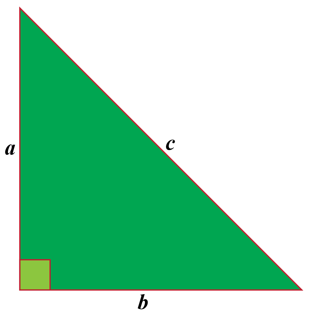 C in a triangle calculation: Right angled triangle