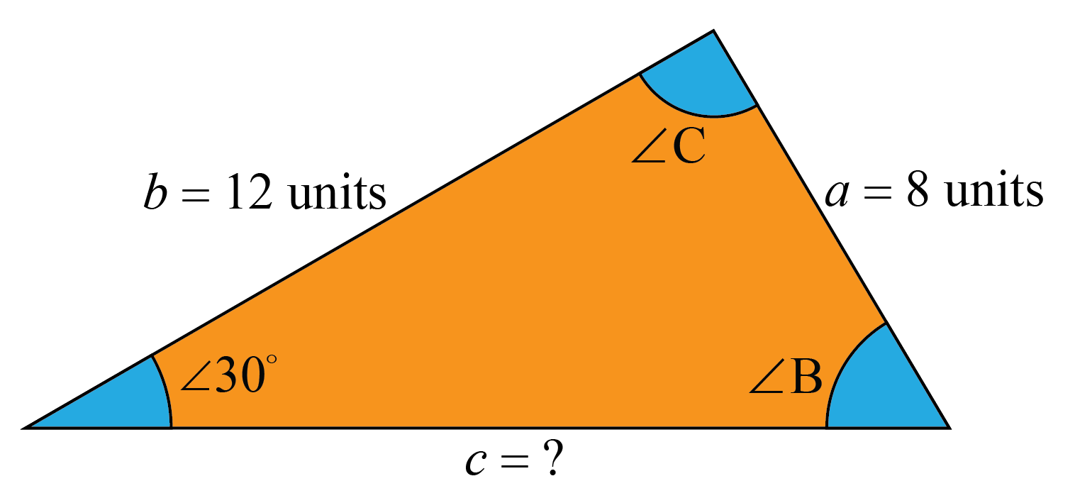 Finding c in a triangle