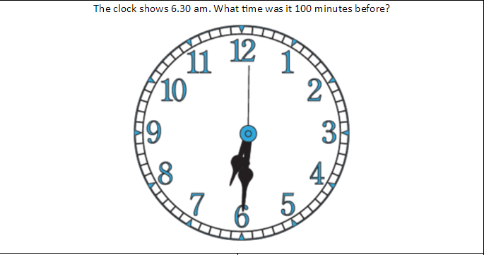 Clock Showing 6:30