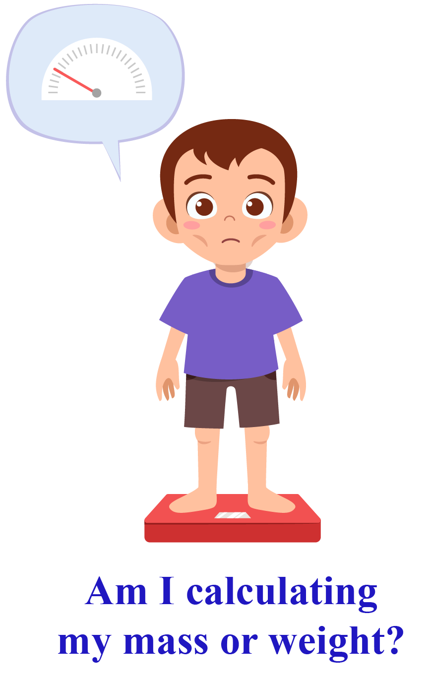a boy standing on a weighing scale