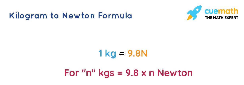 Kilogram to Newton formula