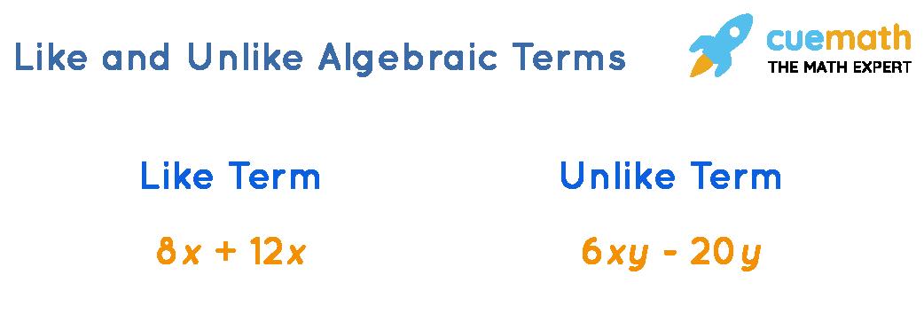Like and Unlike Algebraic Terms