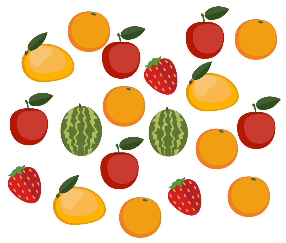 Example of collection of fruits