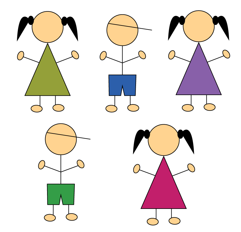 Solved examples on Denominator: Two boys and three girls playing together, what is the denominator of fraction of group of children.