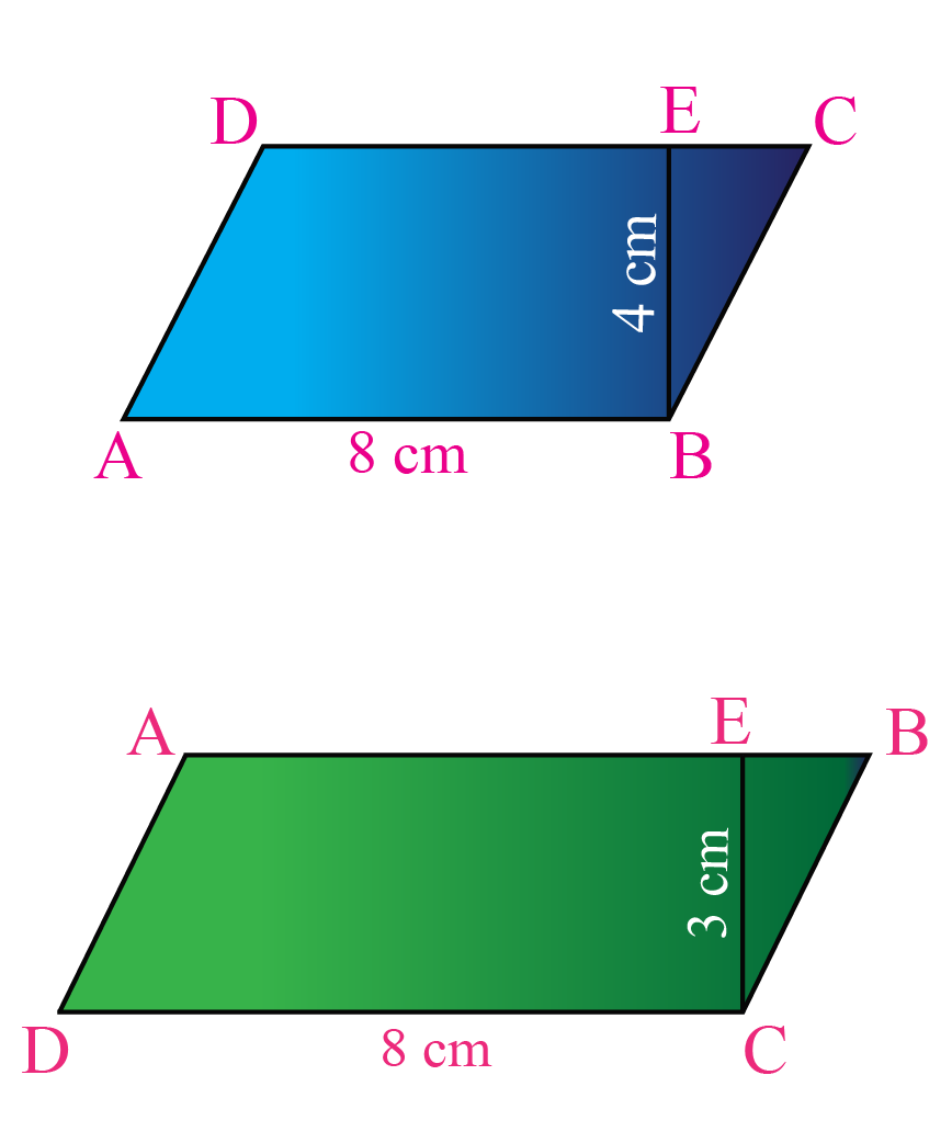 parallelogram shapes, parallelogram examples