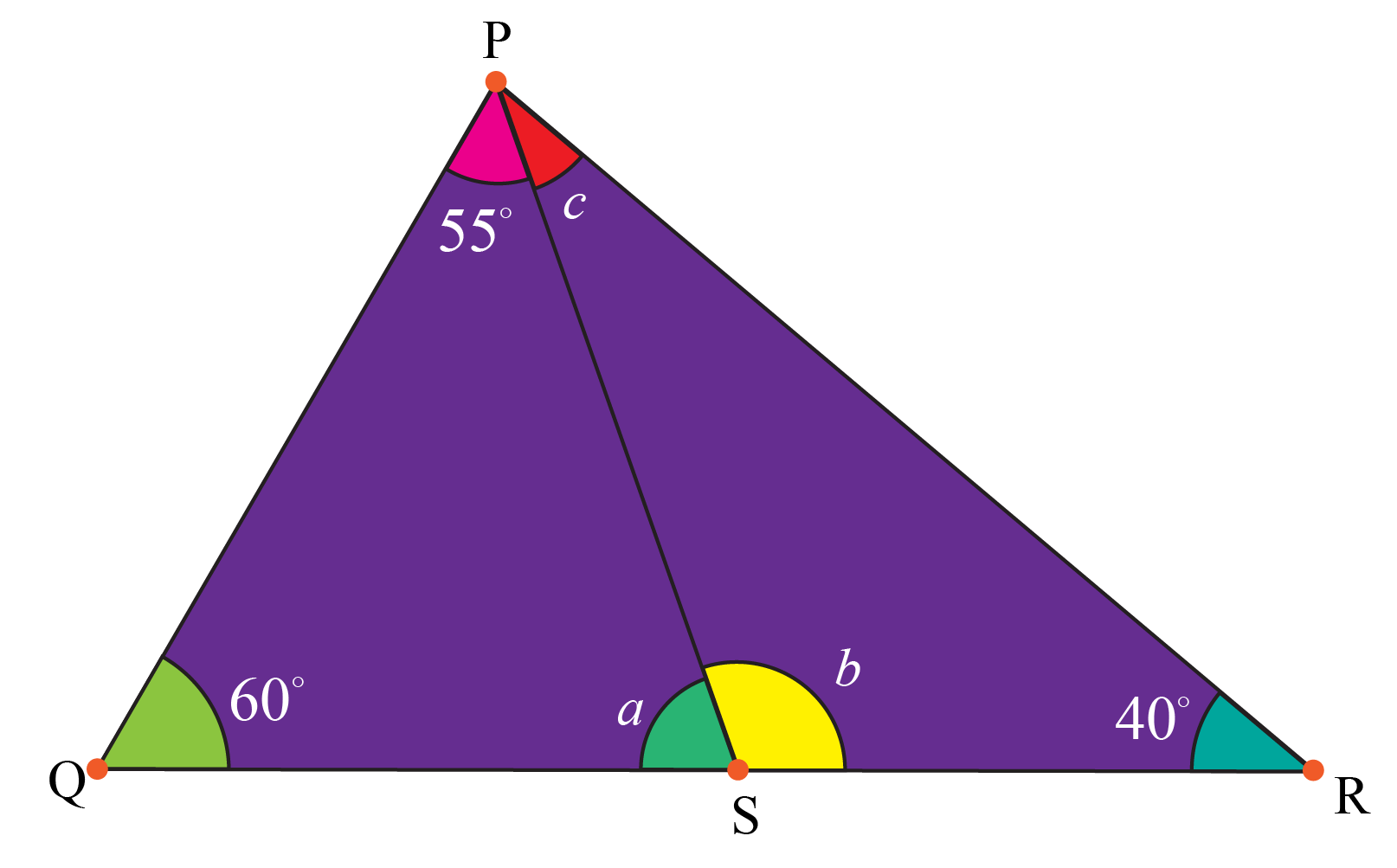 Triangle angle sum theorem example