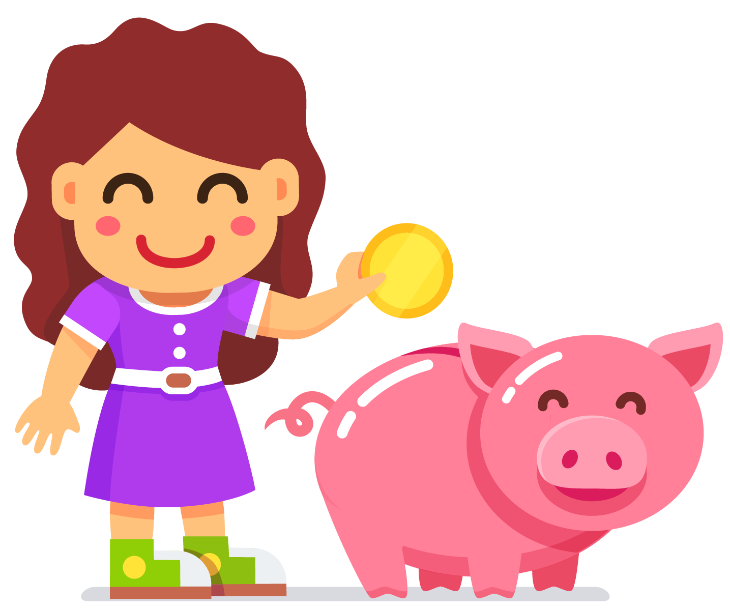 Example for a linear equation: A girl's piggy bank has a sum of Rs. 77 and has 3 times as many two-rupee coins as five-rupee coins in it.