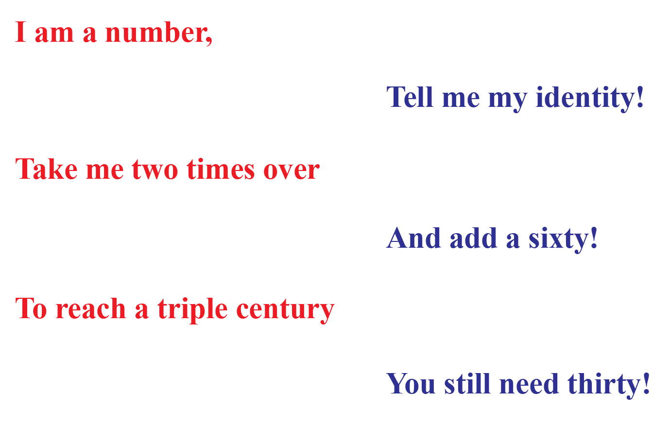 Riddle to solve a linear equation