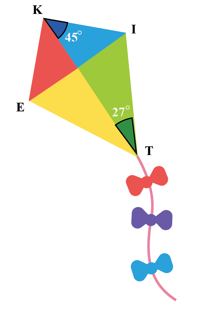 The angle is bisected in the kite.